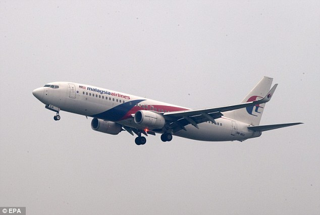 Flight: The find has sparked speculation in the Thai media that the debris could belong to MH370, which disappeared with 239 people on board during a flight from Kuala Lumpur to Beijing in March 2014. Pictured, Malaysian Airlines aircraft at Kuala Lumpur International Airport