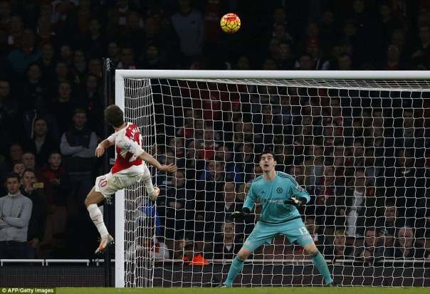 Flamini blazed the ball over the crossbar from close range, his effort proved to be the last kick of the first half at the Emirates Stadium