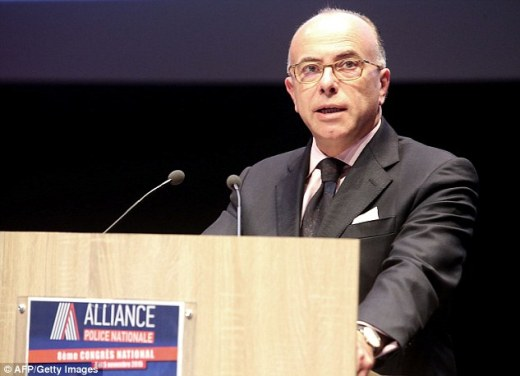 The French interior minister Bernard Cazeneuve (pictured) made the claim as he argued for the creation of a special task force to travel to Greece to help clamp down on stolen or fake passports