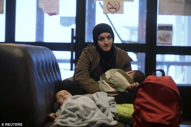 The Finnish government said it expect to deport around 20,000 of the 32,000 asylum-seekers it received in 2015. Pictured: a Syrian refugee with her children in Sweden