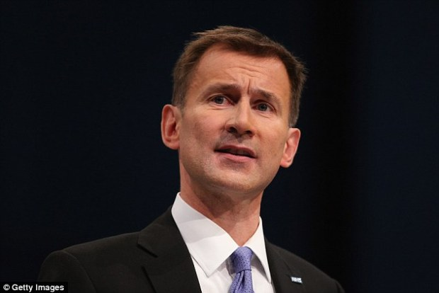 Health Secretary Jeremy Hunt, pictured, is facing calls to clamps down on the 'abuse of the NHS'