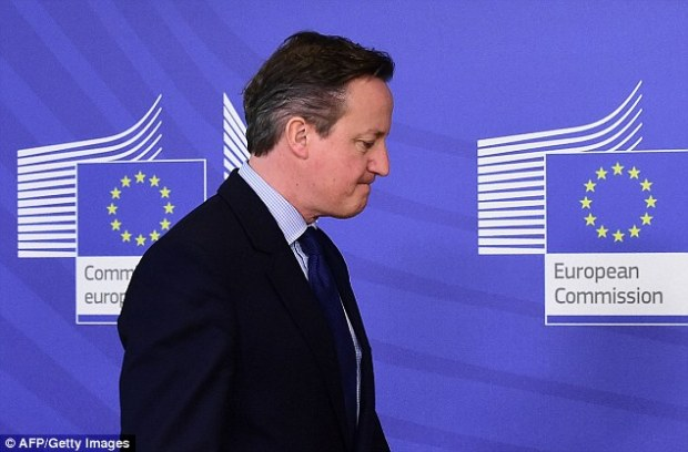 Cameron wishes us to swallow the nonsense of his 'renegotiation', when, in truth, he has simply reached a personal decision to forget his Eurosceptic past, and stick with the tottering European club