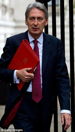Former outspoken Eurosceptic: Philip Hammond