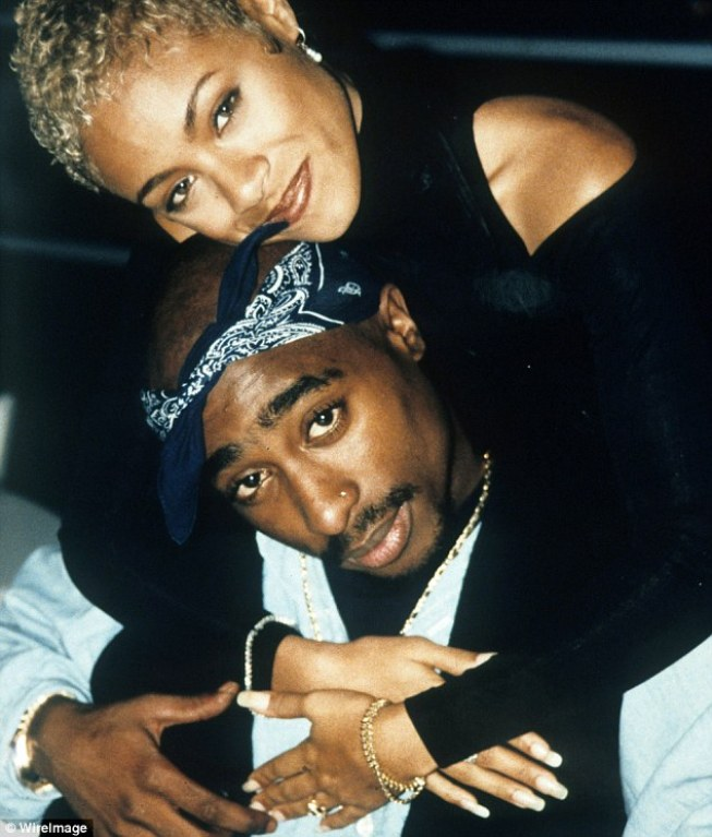 The death of Tupac, pictured with his high school friend Jada Pinkett, who went on to marry actor Will Smith,remains a mystery as no killer was ever charged