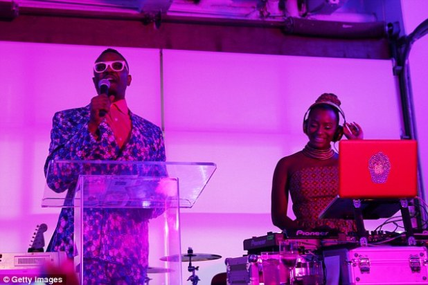 Cuppy takes to the deck as a charity fundraiser at the Gladstone Gallery in New York