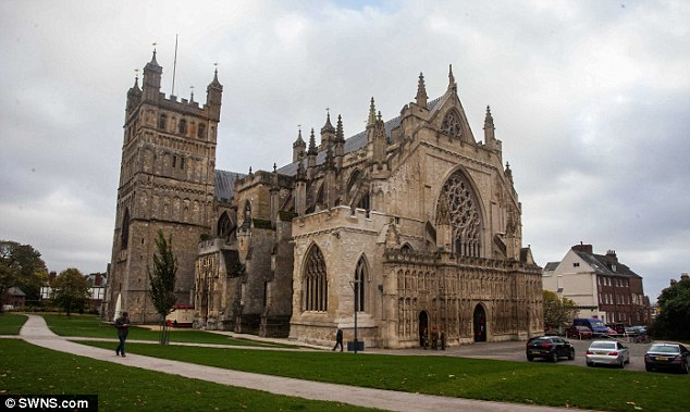 Andy Struthers's new book explains why in the famous 1897 text 'Dracula' solicitor Jonathan Harker leaves from Exeter's Cathedral Close (pictured) to make his perilous journey to Transylvania