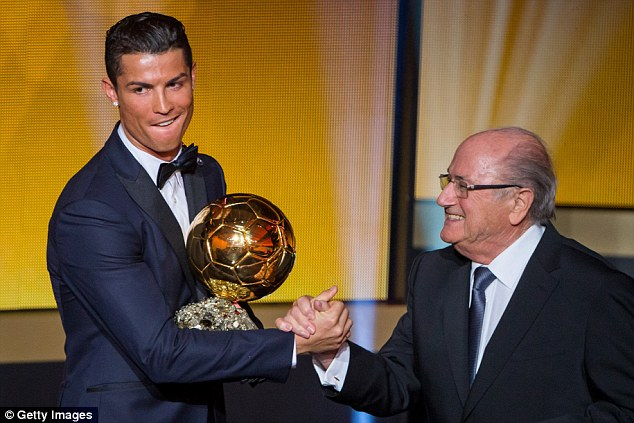 Ronaldo went on to win the Ballon d'Or at Real Madrid following his transfer from Manchester United