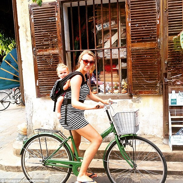 Not a bad place to have your first ever bike ride! The mother and daughter duo pictured exploring Hoi-an