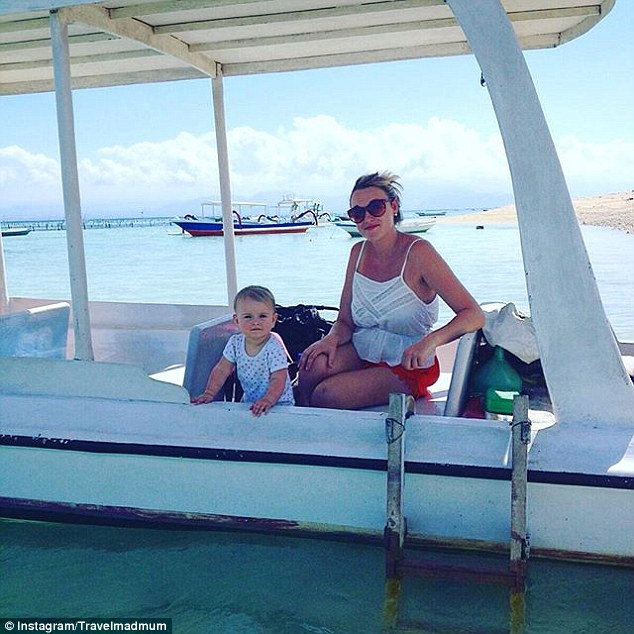 The family took a water taxito get around and see the beautiful snorkelling sights in NusaLembongan