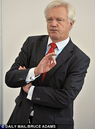 David Davis yesterday predicted proposals for an emergency brake would have 'no impact whatsoever'