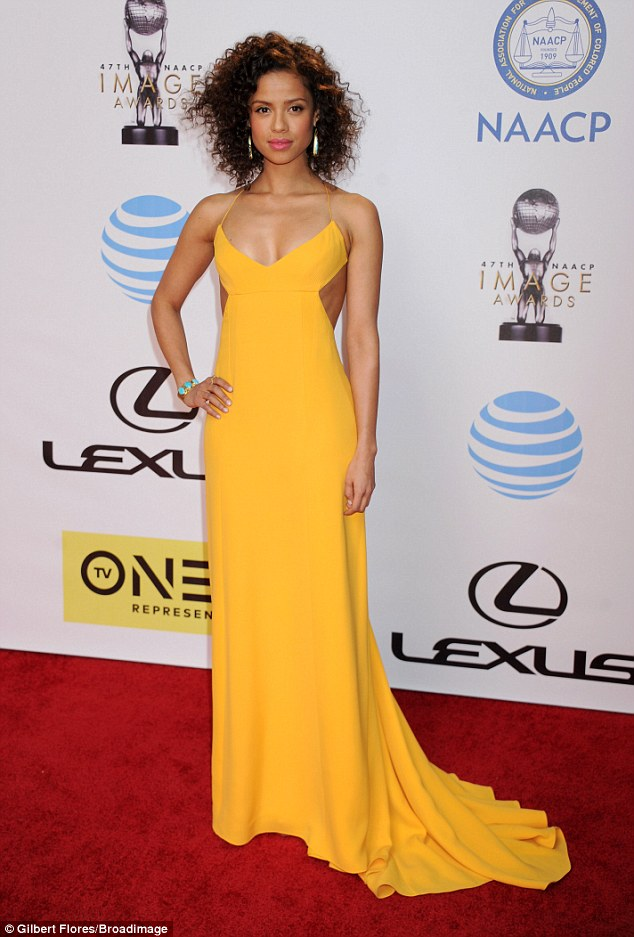 Sunny side up! Gugu Mbatha-Raw looked on the bright side in a canary yellow dress