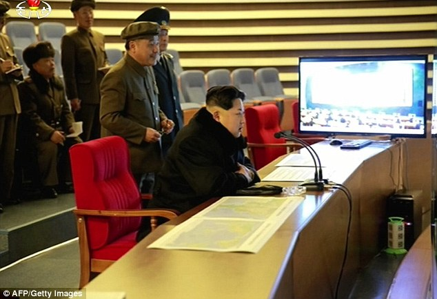 North Korean leader Kim Jong-Un watched the rocket launch from a secret planning room