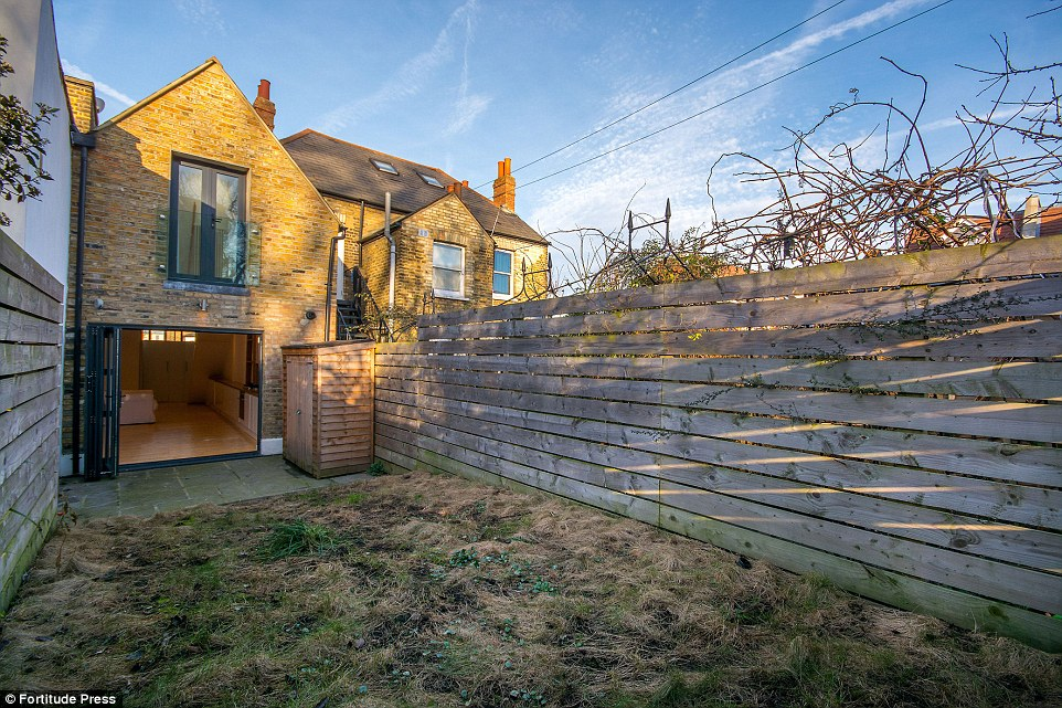Outside chance:It boasts two bedrooms along with a contemporary bathroom, plenty of reception room, a modern kitchen and a large garden at the rear, so may yet prove an attractive prospect for a buyer