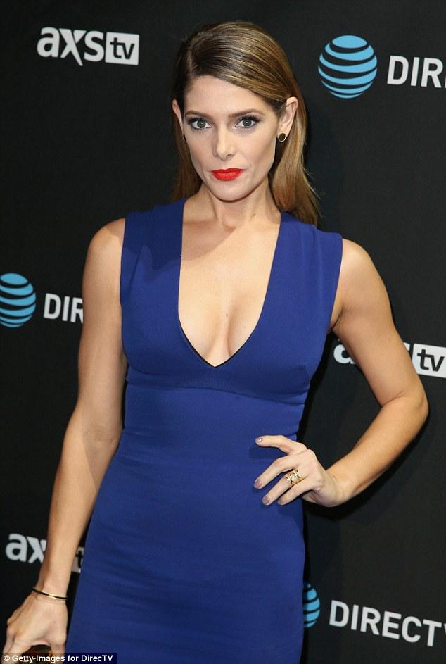 Ashley Greene Shows Off Her Assets At DirecTV Super Bowl