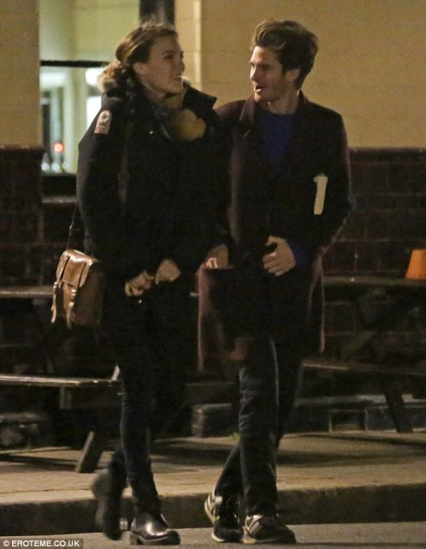 Andrew Garfield looks in good spirits with female ...