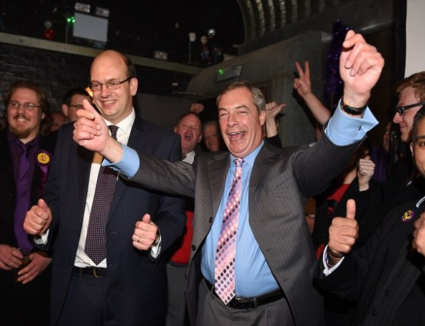 The Rochester by-election  in 2014 was won by Ukip's Mark Reckless, pictured with Nigel Farage, despite the Tories outspending Ukip by thousands