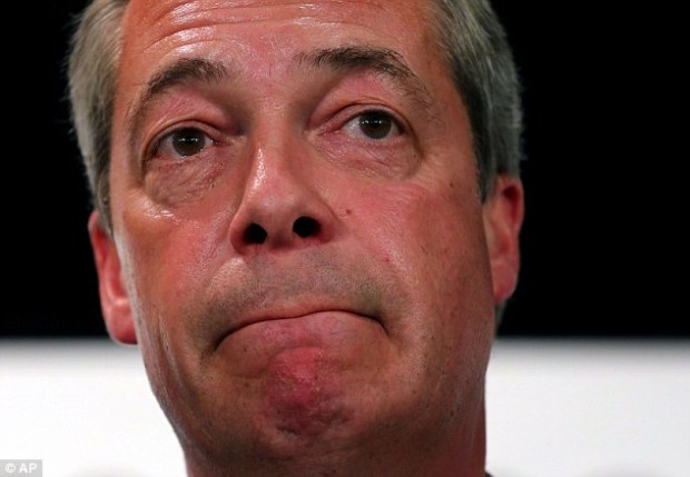 An investigation revealed that the Conservatives did not declare more than £4,000 of hotel receipts which would have taken them over the legal spending limit for the Thanet South constituency, where they beat Ukip leader Nigel Farage (pictured as the results were read out on May 13)