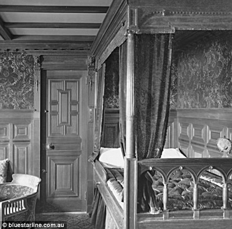 First class staterooms were decorated with walnut, sycamore, mahogany and oak panelling