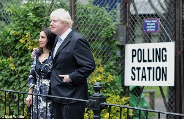 Wheeler, pictured with her husband on polling day, said the European Court of Justice 'erodes sovereignty'