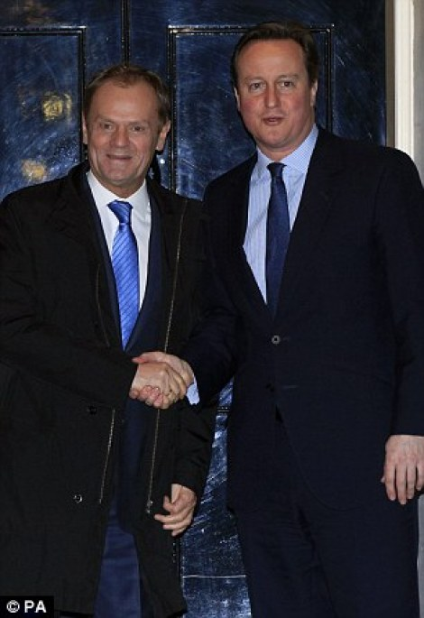 Donald Tusk, pictured with David Cameron outside Downing Street last week, warned that talks over Britain's EU deal are in a 'very fragile' state