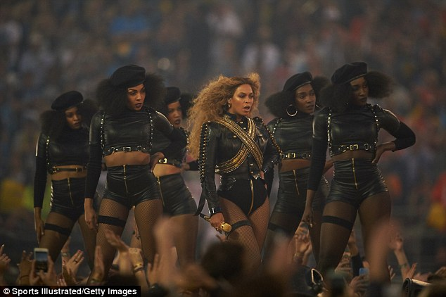 Political: Beyoncé's dance routine was clearly designed to evoke the Black Panthers and make reference to African-American issues - but it was not intended to be about the death of Mario Woods