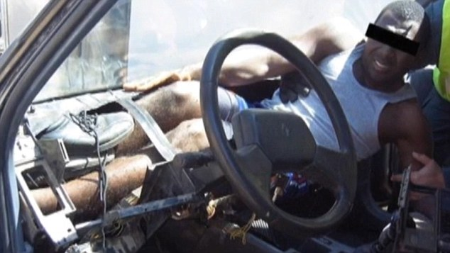 And another man was carefully hidden under the dashboard of a vehicle as it crossed into the small Spanish-run territory on Morocco's coast