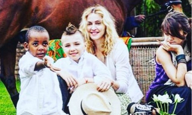 Madonna Posts Sweet Throwback Photo Of Her Son Rocco In