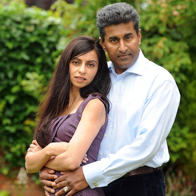 Dr Raj Mattu, pictured with his wife Sangita, has revealed how he was smeared by NHS bosses after he publicly revealed he was concerned about patient safety at Walsgrave Hospital in Coventry