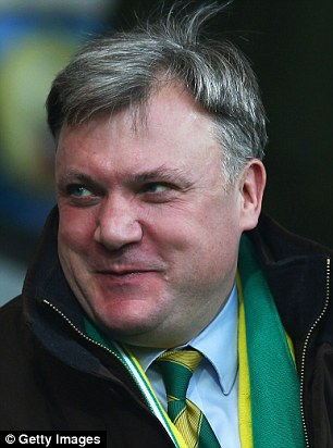 Since being chucked out of Parliament by the voters, Mr Balls has joined Norwich City football club as chairman, pictured