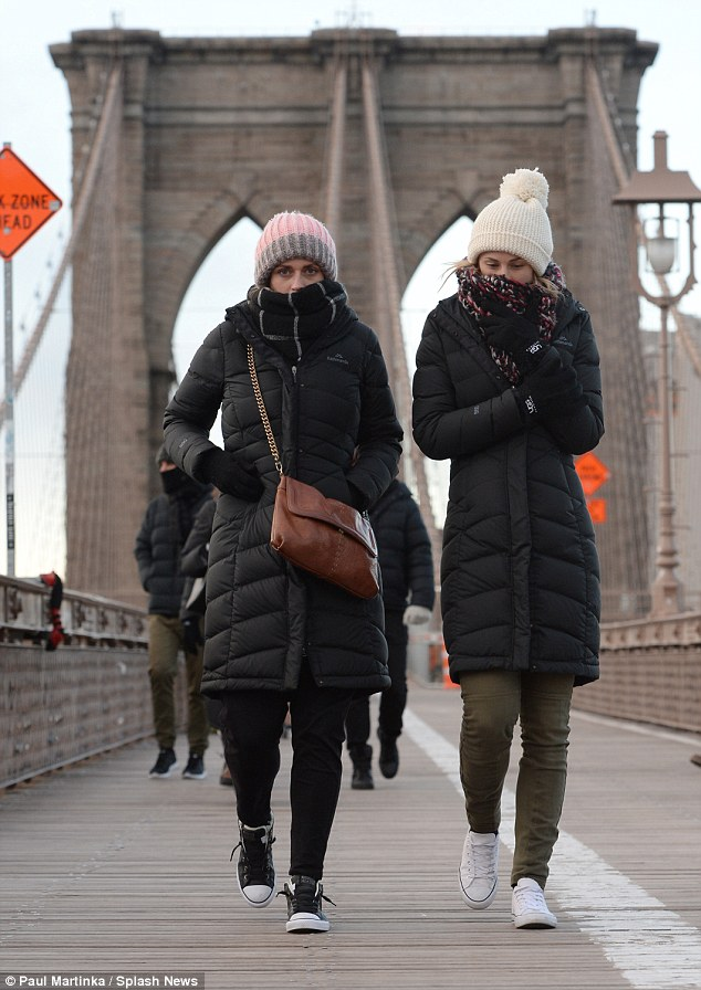 New Yorkers are bracing for the freezing Valentine's Day winter weather as temperatures prepare to drop in to the single digits