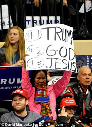 Image result for god and trump rally