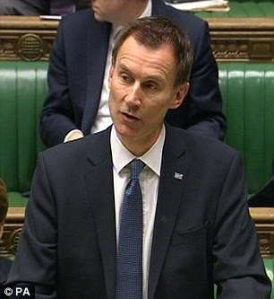 Health Secretary Jeremy Hunt launched the new NHS charge which went live almost a year ago