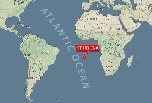 The island, which is 47 square miles, can only be reached by a Royal Mail ship which leaves from Cape Town, South Africa, every three weeks and takes five days to arrive
