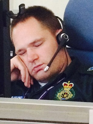 Exhausted: Her call handler colleague. He is not the member of staff involved in the William Mead case