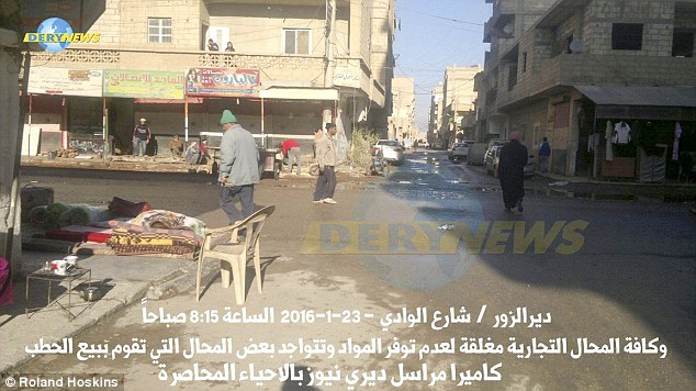 Forgotten: Deir Ezzor residents who have escaped say there is no choice but to run, with the only alternative being slowly starving to death because there is no food