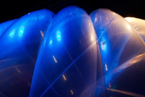 The balloons, once in the stratosphere, will be twice as high as commercial airliners and barely visible to the naked eye.Google has said the balloons will have a lifespan of about 180 days, but can be recycled