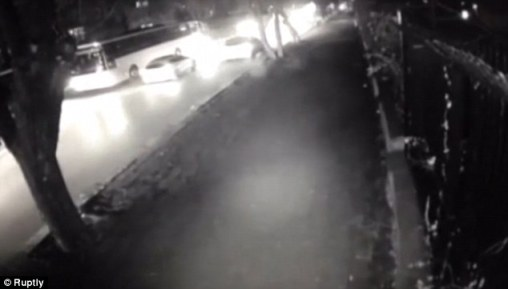 Footage: CCTV images show cars filing past the convoy of military buses, which were attacked as they waited at traffic lights in the Turkish capital of Ankara