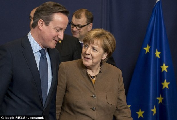 Angela Merkel said she wanted to do 'everything' possible to make sure Britain can remain part of the EU