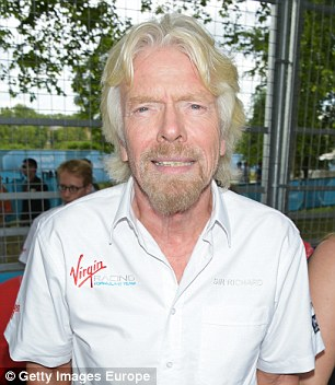 Pictured, Virgin tycoon Richard Branson