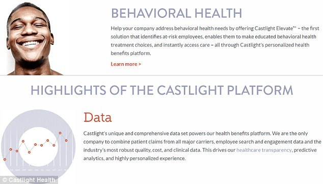 Secret observation: Castlight gives its clients' workers an app to help them manage their health, but the app collects data, allowing Castlight to report back to employers with information on illness, pregnancies and more