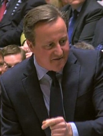 Mr Cameron in the Commons