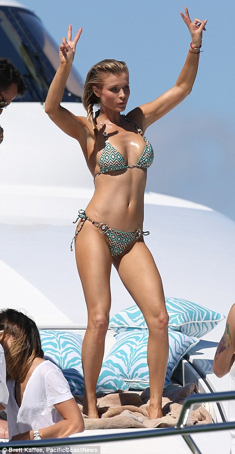 Real Housewives Joanna Krupa Topless Aboard Yacht With