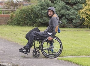 Hussain, who claims to be paraplegic, appeared from his bed at home via video link looking as if he was asleep