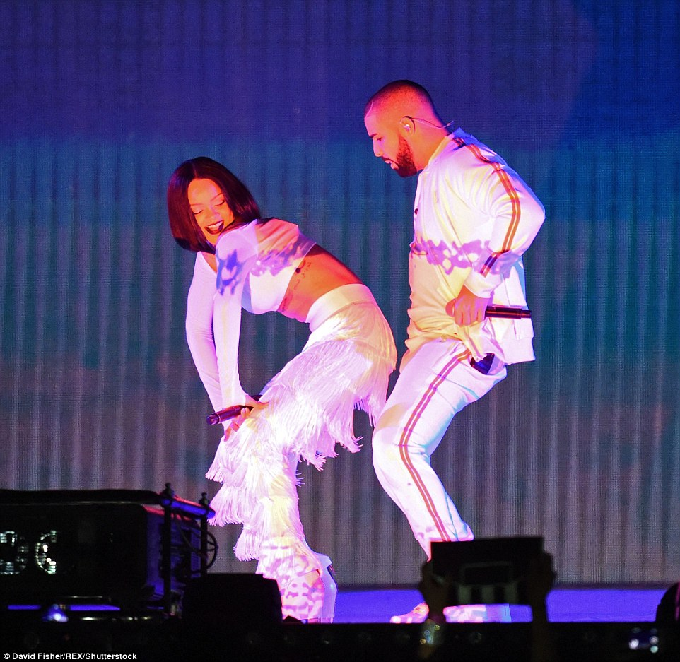 X-rated ceremont: The BRITS 2016 proved to be one of the raciest ceremonies of the night as Rihanna and Drake put on a very steamy display as they reunited to perform their new single Work on Wednesday night