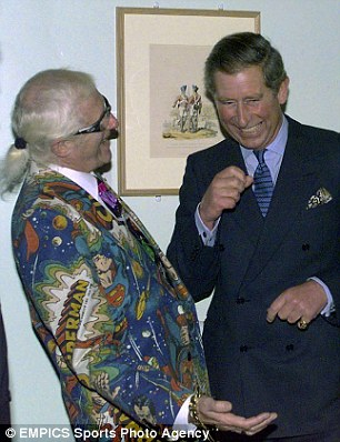 Rubbing shoulders with royalty: Savile also met Prince Charles on a number of occasions during his career