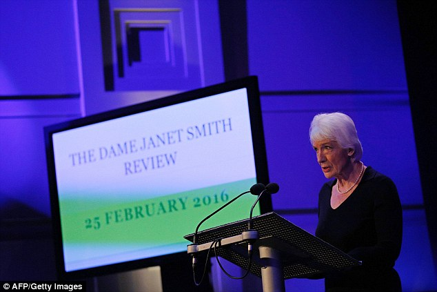 Failure to act: Dame Janet (pictured at a press conference yesterday morning) said girls who dared to complain about being sexually assaulted were regarded as 'a nuisance' and their claims not properly dealt with