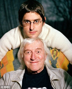 False impression: Savile with Louis Theroux on the documentary When Louis Met Jimmy