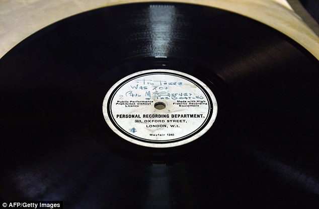 He misspells 'Hello Little Girl' as 'Hullo Little Girl' of the original 10-inch 78RPM acetate recording of the single and of 'Till There Was You'