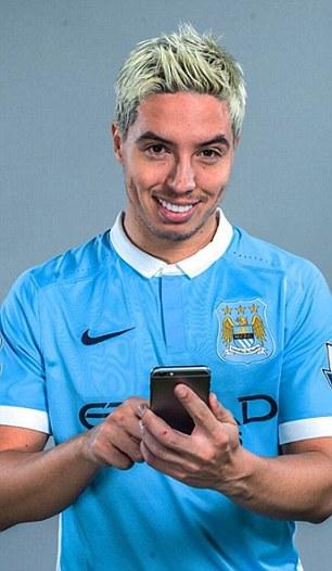 Samir Nasri Dyes His Hair BLUE As Man City Gear Up For