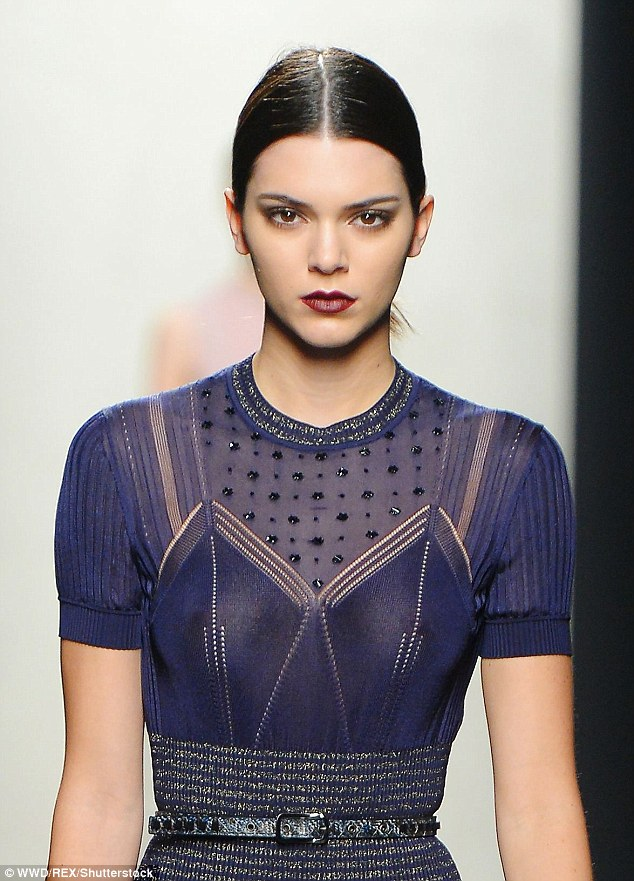 In demand:On Friday, Kendall modelled for Fendi and Versace's shows